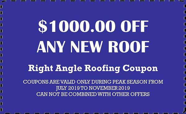 Right Angle Roofing New Roof Coupons